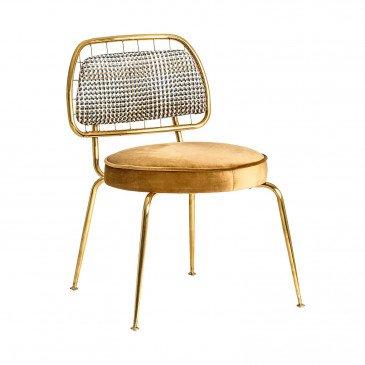 Chaise moutarde et dorée Yannis | www.cosy-home-design.fr