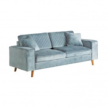Sofa bleu gris Yannis | www.cosy-home-design.fr