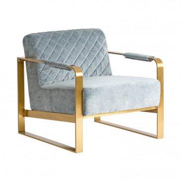 Fauteuil gris doré style Art déco | www.cosy-home-design.fr