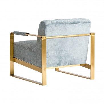 Fauteuil gris doré style Art déco   www.cosy-home-design.fr