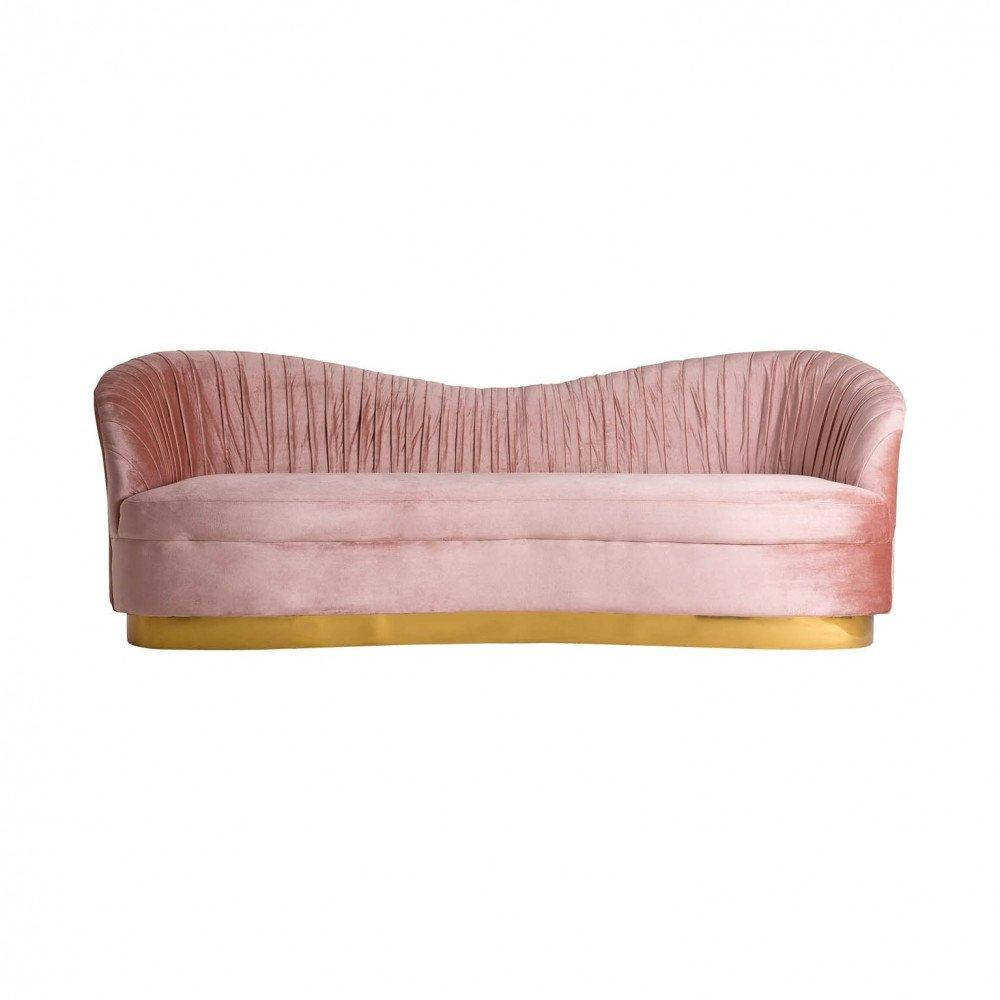 Canapé rose Laoise | www.cosy-home-design.fr