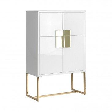 Armoire blanc et doré Jacinda | www.cosy-home-design.fr