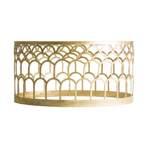 Table basse Ronde Dorée Art-Déco Rufino   www.cosy-home-design.fr