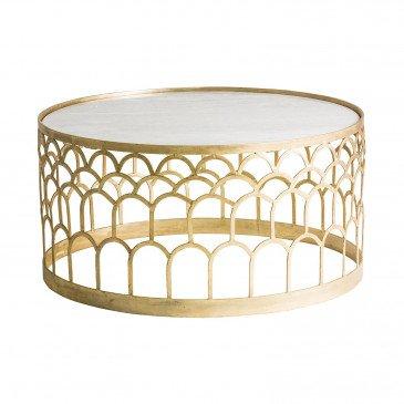 Table basse dorée Rufino | www.cosy-home-design.fr
