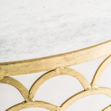 Table basse Ronde Dorée Art-Déco Rufino | www.cosy-home-design.fr