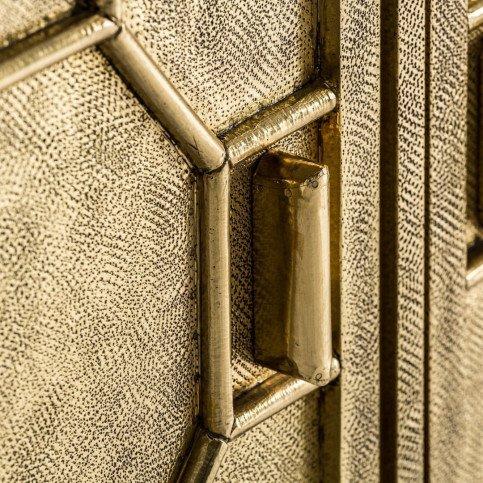 Buffet Doré Art Déco en Bois Massif Recke | www.cosy-home-design.fr