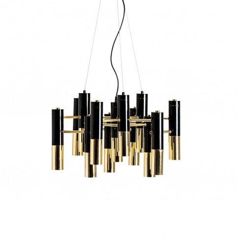 Lustre noir et doré Reburg | www.cosy-home-design.fr