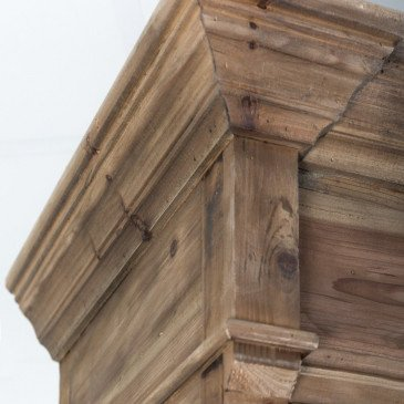 Vitrine en bois naturel vieilli Sabrina | www.cosy-home-design.fr