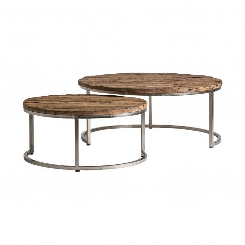 Table Basse Gigogne Circulaire Akron | www.cosy-home-design.fr