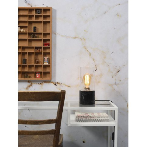 Lampe en Verre et marbre Olympe    www.cosy-home-design.fr