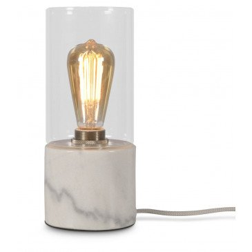 Lampe en Verre et marbre Blanc Olympe  | www.cosy-home-design.fr