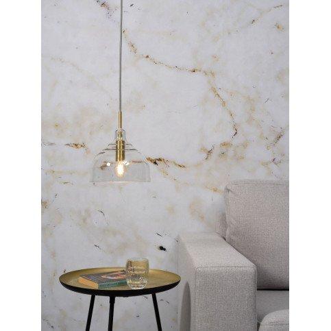 Suspension en Verre et fer Doré BRUSSELS  | www.cosy-home-design.fr