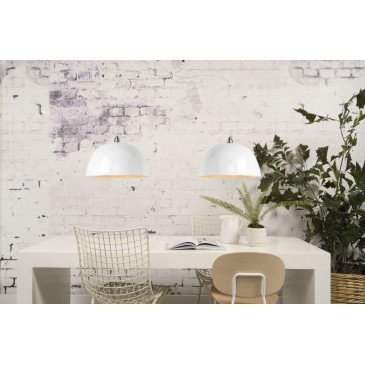 Suspension en Bambou Blanc Solo HALONG  | www.cosy-home-design.fr