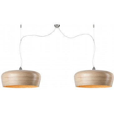 Suspension en Bambou Naturel Double HANOI  | www.cosy-home-design.fr