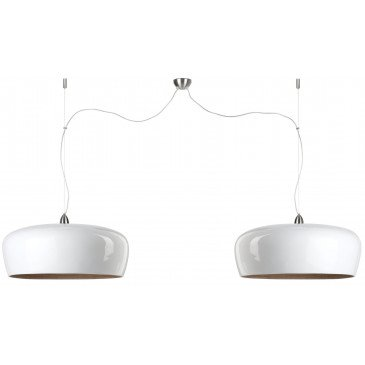 Suspension en Bambou Blanc Double HANOI  | www.cosy-home-design.fr