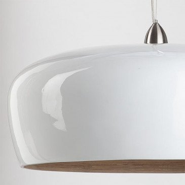 Suspension en Bambou Blanc Double HANOI  | www.cosy-home-design.fr