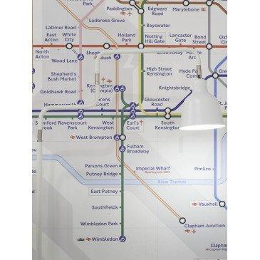 Lampadaire en Fer Blanc LONDON  | www.cosy-home-design.fr