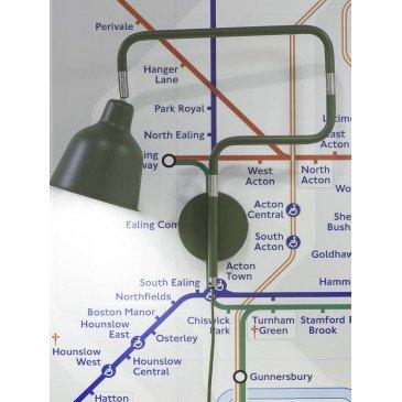 Applique en Fer Vert LONDON  | www.cosy-home-design.fr