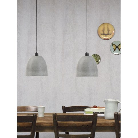 Suspension en Béton Gris MALAGA M   www.cosy-home-design.fr