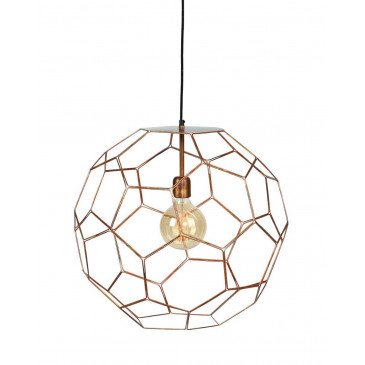 Suspension en Fer Cuivre MARRAKESH S | www.cosy-home-design.fr
