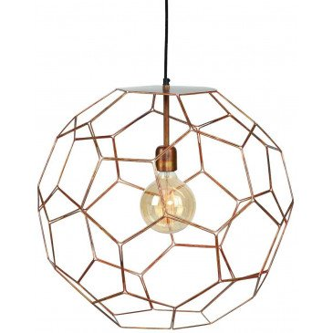 Suspension en Fer Cuivre MARRAKESH L | www.cosy-home-design.fr