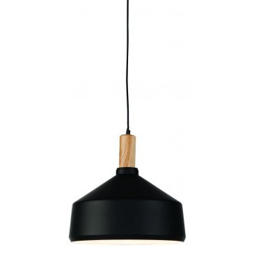 Suspension en Fer Noir et naturel MELBOURNE L | www.cosy-home-design.fr