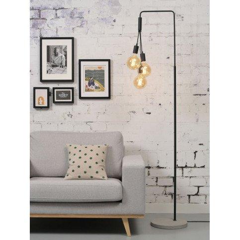 Lampadaire en Fer et béton Noir Bergen  | www.cosy-home-design.fr