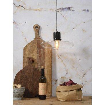 Suspension en Verre et marbre Noir PARIS  | www.cosy-home-design.fr