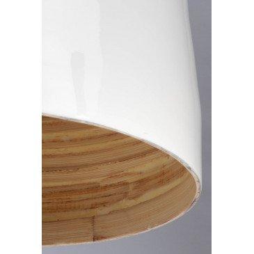 Suspension en Bambou Blanc et naturel SAIGON  | www.cosy-home-design.fr