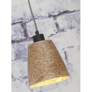 Suspension en Copeaux de bois Naturel SEQUOIA  | www.cosy-home-design.fr