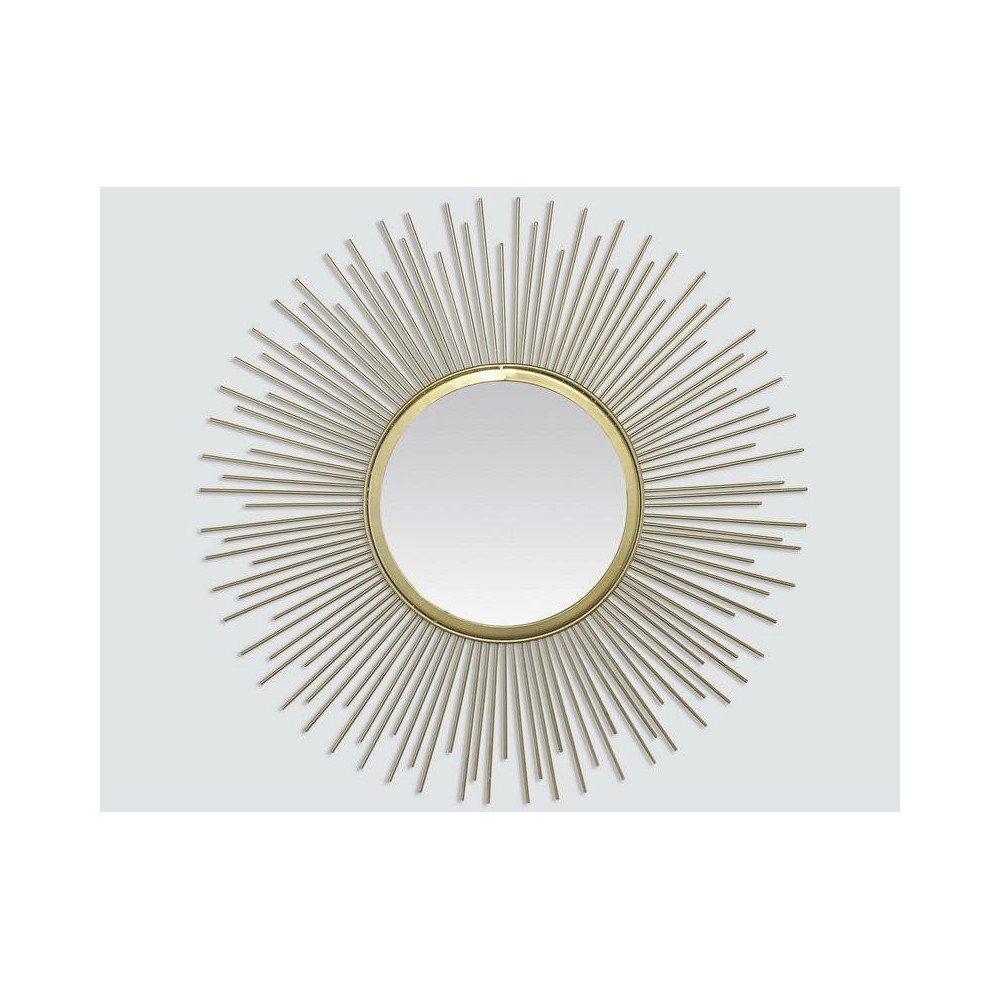 MIROIR SOLEIL DORE 50X50CM EXT | www.cosy-home-design.fr