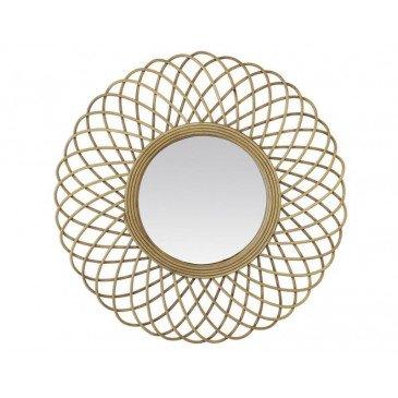 MIROIR ELLA ROTIN NATUREL 51X51CM | www.cosy-home-design.fr