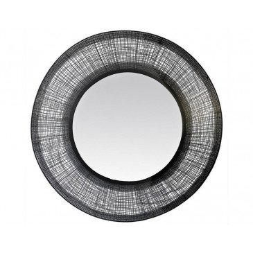 MIROIR METAL FIN FILAIRE NOIR 90CM | www.cosy-home-design.fr
