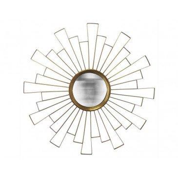 MIROIR SOLEIL CONVEXE DECOUPE DORE 90CM | www.cosy-home-design.fr