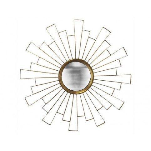 MIROIR SOLEIL CONVEXE DECOUPE DORE 90CM   www.cosy-home-design.fr