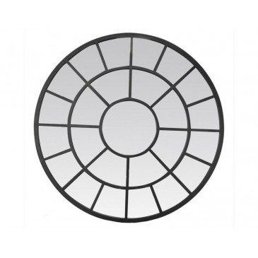 MIROIR ROUE ATELIER NOIR 95X90CM | www.cosy-home-design.fr
