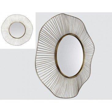 MIROIR LEGERETE DORE 36X36CM 75EXT | www.cosy-home-design.fr