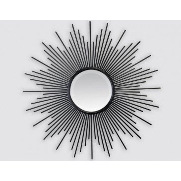 MIROIR SOLEIL NOIR METAL 22IN 80EXT | www.cosy-home-design.fr