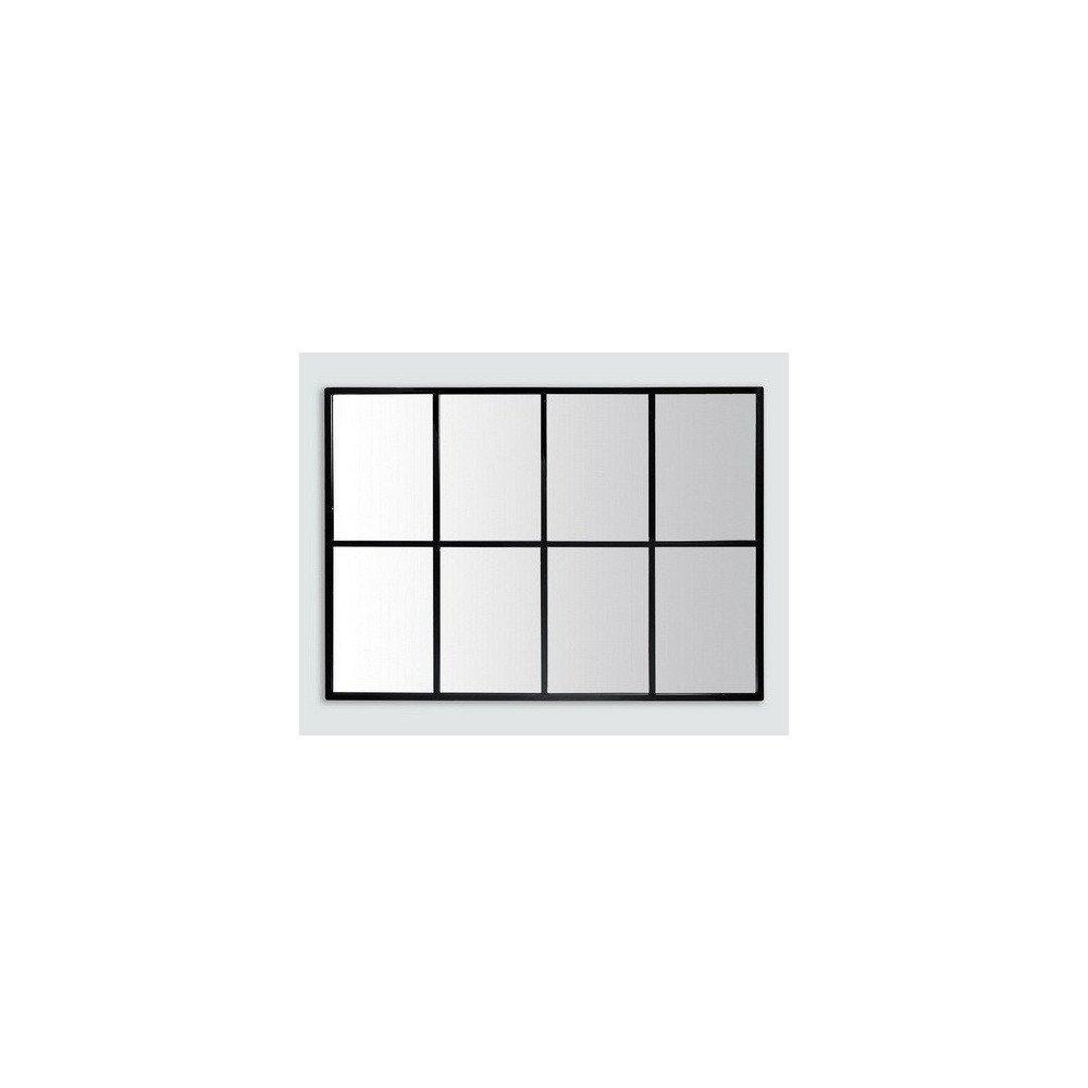 MIROIR FENETRE 8VUES NOIR 100X140CM | www.cosy-home-design.fr