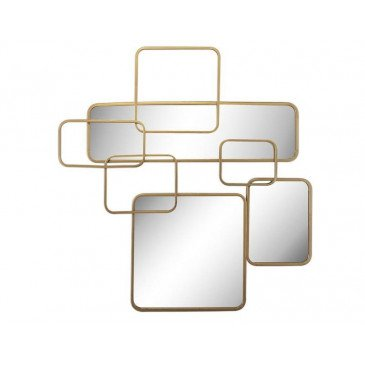MIROIR ART DECO DORE 91X89CM | www.cosy-home-design.fr