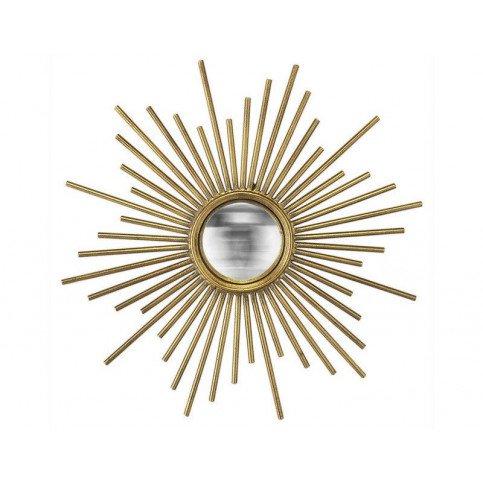 MIROIR SOLEIL DORE CONVEXE TIGE METAL 45CM | www.cosy-home-design.fr
