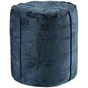 Pouf Velor Encre | www.cosy-home-design.fr