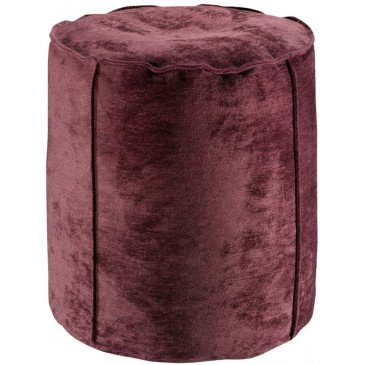 Pouf Velor Prune | www.cosy-home-design.fr