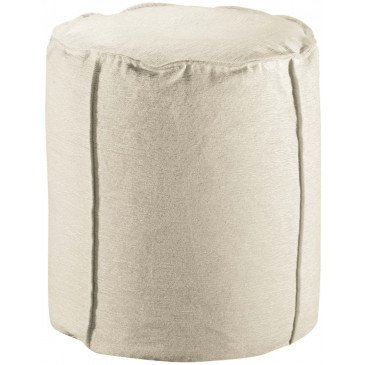 Pouf Velor Neige | www.cosy-home-design.fr