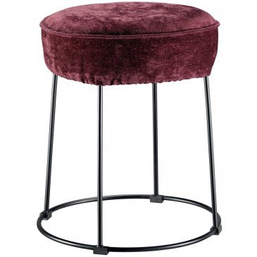 Housse de Tabouret Velor Prune | www.cosy-home-design.fr