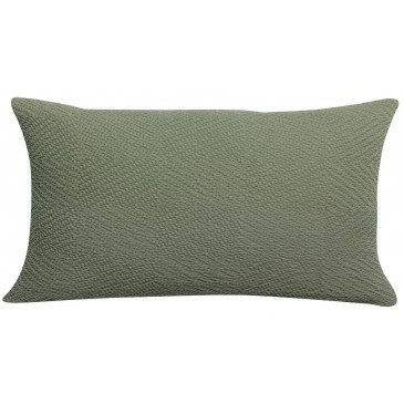Housse de Coussin Stonewashed Ava Olive 50 | www.cosy-home-design.fr