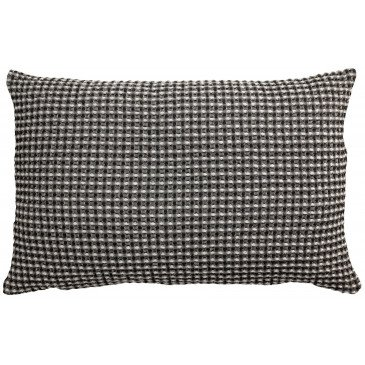 Housse de Coussin Stonewashed Naga Vichy Carbone 65   www.cosy-home-design.fr