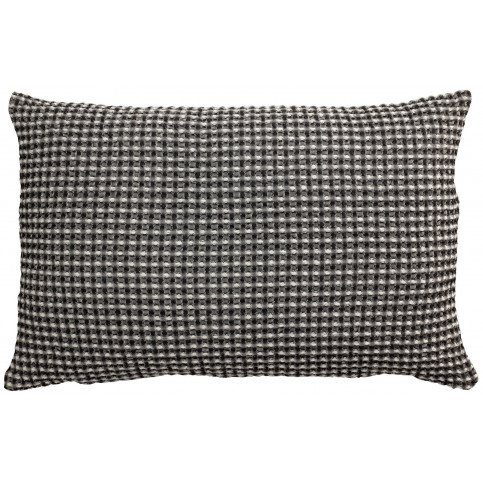 Housse de Coussin Stonewashed Naga Vichy Carbone 65 | www.cosy-home-design.fr