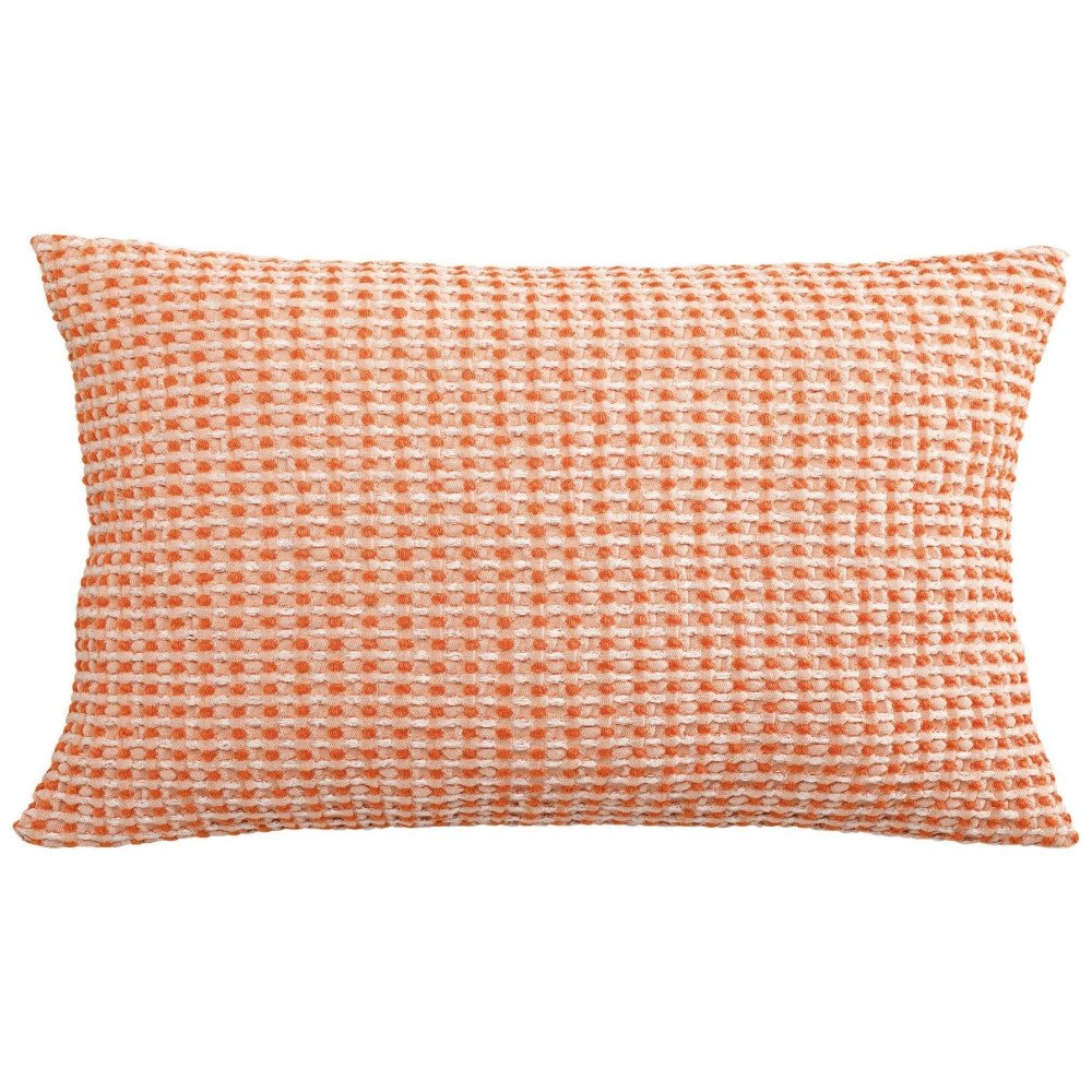 Housse de Coussin Stonewashed Naga Vichy Clementine 65 | www.cosy-home-design.fr