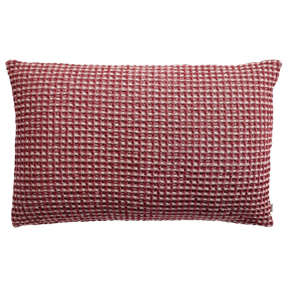 Housse de Coussin Stonewashed Naga Vichy Griotte 65 | www.cosy-home-design.fr